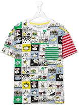 Fendi comic book strip printed T-shirt - kids - Cotton/Spandex/Elastane - 14 yrs