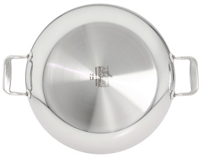 "All-Clad Stainless Steel 13"" Paella Pan with Lid"