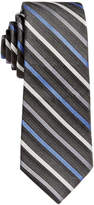 Calvin Klein Gemstone Zip Stripe Tie, Big Boys