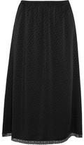 Maison Margiela Lace-trimmed Jacquard Midi Skirt - Black