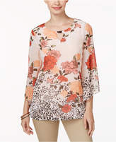 JM Collection Floral-Print Top, Only at Macy's