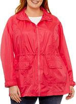 ST. JOHN'S BAY St. John's Bay Wind Resistant Water Resistant Raincoat-Plus