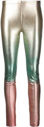 Zadig & Voltaire Metallic Colour Block Leggings
