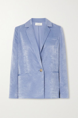 Vince Hammered-satin Blazer - Blue