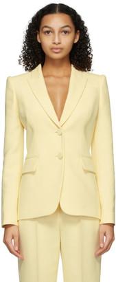Alexander McQueen Yellow Wool and Silk Light Blazer