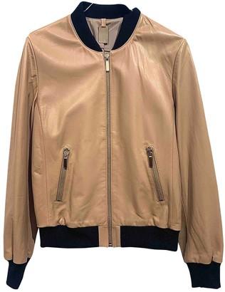Thomas Wylde Beige Leather Jacket for Women