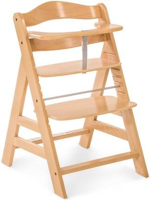Hauck Alpha+ Wooden Highchair - Wood Finish