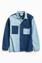 Urban Outfitters Heavyweight Colorblocked Denim Button-Down Shirt