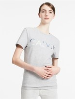 Calvin Klein Jeans Fitted Cotton Stretch Logo T-Shirt