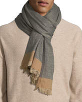 Brunello Cucinelli Cashmere/Silk Scarf with Tipping