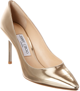 Jimmy Choo Romy 85 Metallic Leather Pump