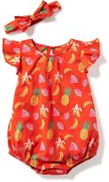 Old Navy 2-Piece Bubble Romper and Headband Set for Baby