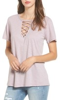 Socialite Women's Grommet Lace-Up Tee