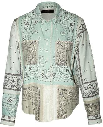 Amiri Reconstructed Bandana Print Flannel Shirt Pale Lime