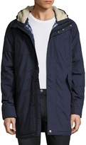 Slate & Stone Men's Cotton Solid Hooded Parka