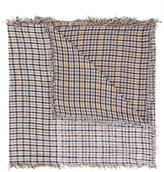 Undercover checked frayed scarf - unisex - Silk/Bamboo - One Size