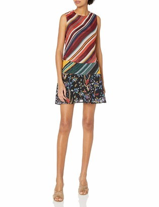 Desigual Women's Naticos Woman Woven Strapless Dress