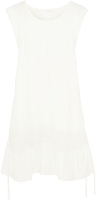 Chloé Lace-appliqued Cady Mini Dress