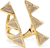 Noir Dungeon gold-tone crystal ring