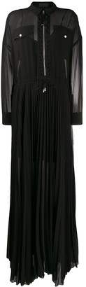 Diesel Black Gold Long Pleated Shirt Dress