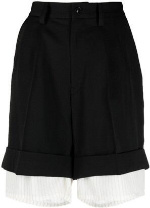 Y's Layered Tailored Shorts