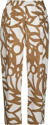 Aspesi Abstract-Print Cropped Trousers