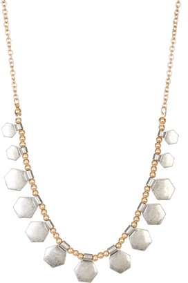 Melrose and Market Hexagon Charm Beaded Necklace