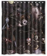 Shower Curtains jack skellington the nightmare before christmas SKCASE Custom shower curtain 60x72 inch