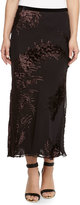 Jason Wu Chiffon Velvet Jacquard Midi Skirt