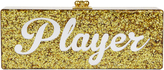 "Edie Parker Flavia ""Player"" Gold Confetti Clutch Metallic 1SIZE"