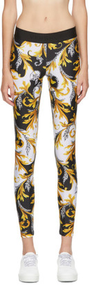 Versace Underwear White Allover Print Leggings