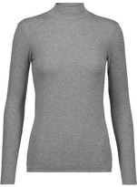 ATM Anthony Thomas Melillo Ribbed Stretch-Micro Modal Turtleneck Top
