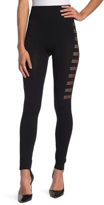 Secret Lace Mesh Cutout Leggings