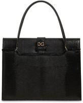 Dolce & Gabbana INGRID IGUANA EMBOSSED LEATHER BAG