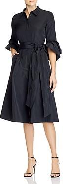 Lafayette 148 New York Hughes Belted Shirt Dress