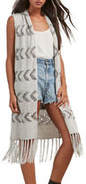 BB Dakota Sleeveless Fringed Cover Up