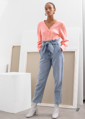 And other stories Belted Paperbag Waist Jeans