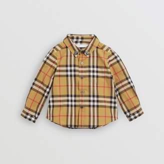 Burberry Childrens Button-down Collar Vintage Check Cotton Shirt Size: 12M