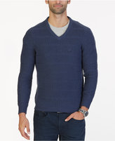 Nautica Men's Textured Knit V-Neck Sweater