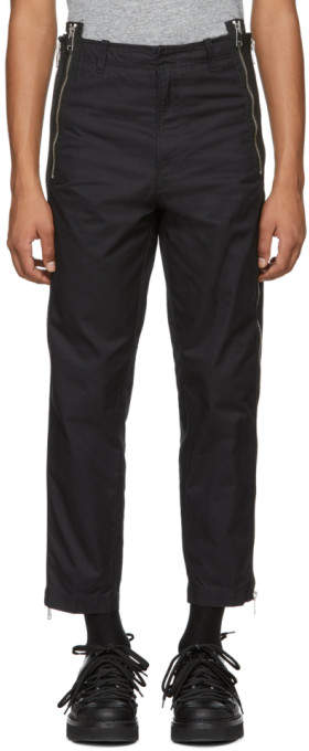 Diesel Black P-Bunt Side Zip Trousers
