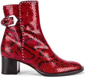 Givenchy Elegant Heel Ankle Boots in Red | FWRD