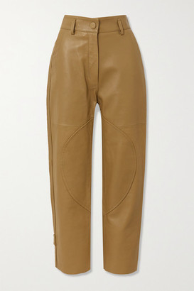 Petar Petrov Hunter Leather Straight-leg Pants - Camel