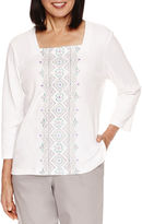 Alfred Dunner Embrodiery T-Shirt