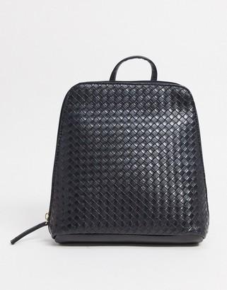 ASOS DESIGN backpack in black weave