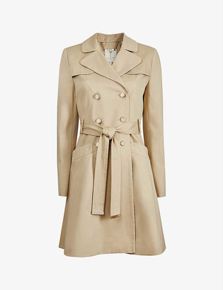 Ted Baker Pandura flared stretch-cotton mac coat