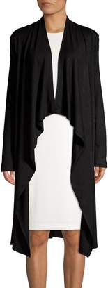 Isaac Mizrahi Imnyc Open-Front Long-Sleeve Cardigan