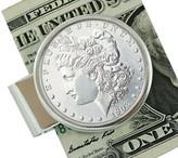 Morgan Sterling Silver Dollar Money Clip