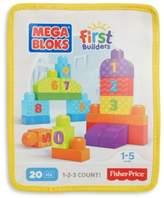 Mega Bloks First Builders 20-Piece 1-2-3 Count Blocks Set