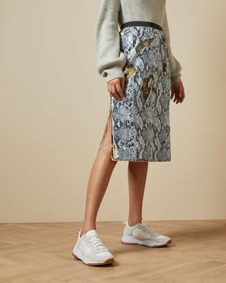 Ted Baker MEEOH Snake skin sequin skirt
