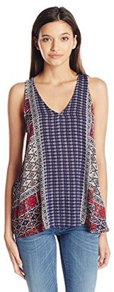 Lucy-Love Lucy Love Women's Half Moon Printed Tank Top